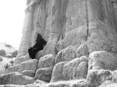 Resting on the Tomb of Prophet Zechariah, Jerusalem, Israel