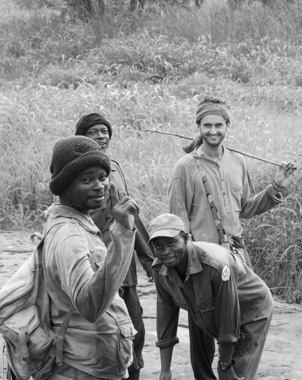 with Rangers in Digya national park, Ghana