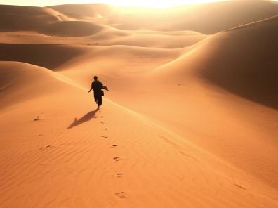 Running through deep Sahara