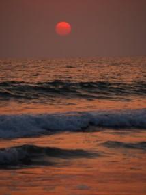 Burning sun, Agonda, Goa.