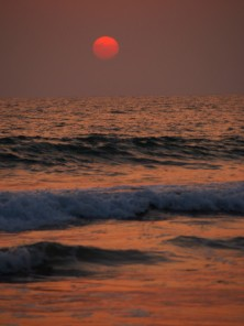 Burning sun, Agonda, Goa.