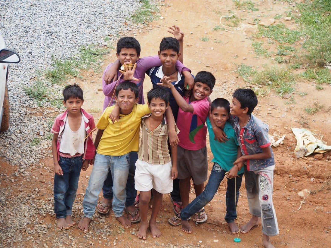 Children of rural Karnataka, India.
