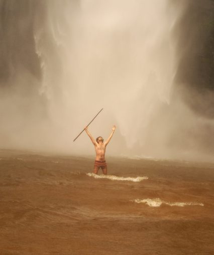 in the Power of the Wli Falls, West Africa