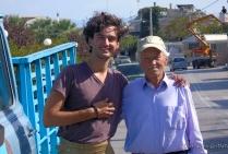 With a greek farmer, Agii Apostoli.