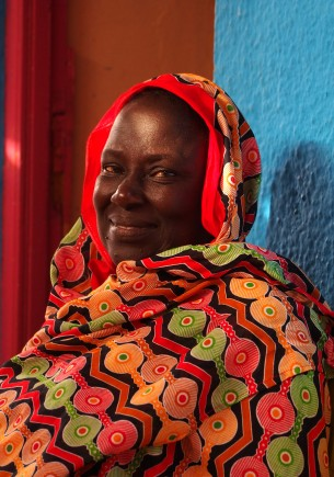 A beautiful lady in Rufisque, Senegal, who showed me kindness and hospitality, gave me clothes and food.