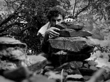 self portrait, jungle, Maharashtra, India.