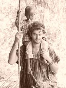 With my God Child, Ghana.