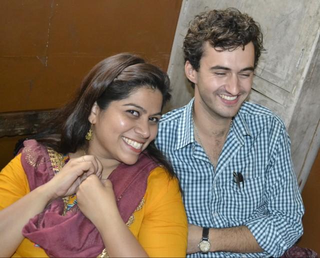 Minu and I, in a state school in Bangalore.