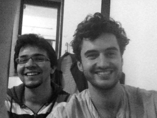 Myself and roommate Abiroop - a musician himself; I miss very much our evening jams