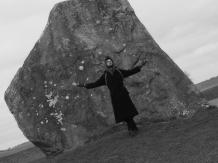 Giant standing stone at Avebury.