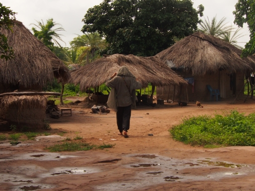 Wandering through tribal village, Ghana