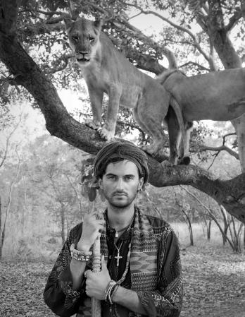 walking with free Lions, Senegal