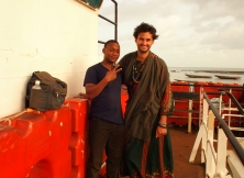 Crossing The Gambia river.