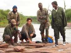 with the rangers... Digya National Park, Ghana