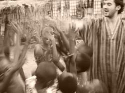 With my slum warriors in Ho, Ghana, 2015