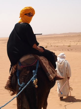 Traversing dunes, Morocco