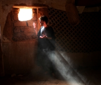 self-portrait, Kasbah, Tagounite, Morocco
