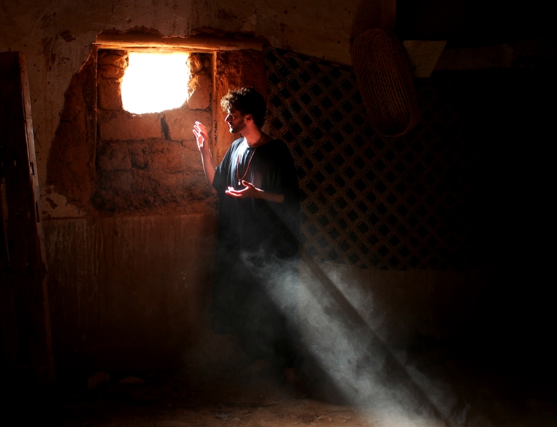 Self-portrait in the Kasbah, Tagounite, Morocco