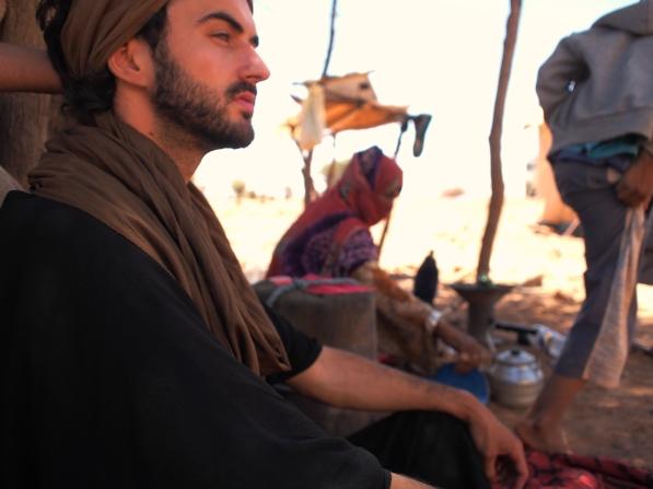 On Berber camp, Sahara