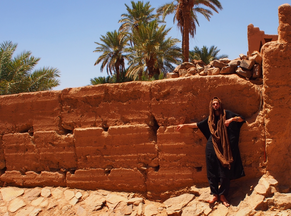 at an oasis, Sahara, 2017