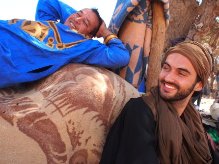 on a nomadic Berber camp, Morocco