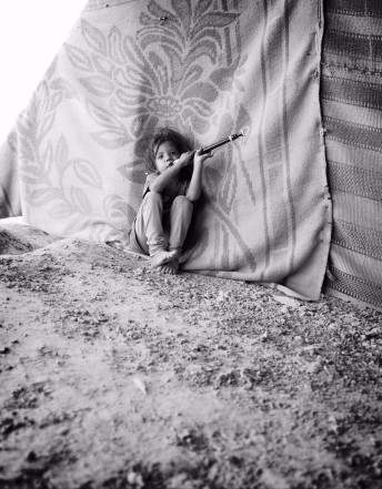 Bedouin girl in tent