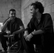 with modern Bedouins, Israel