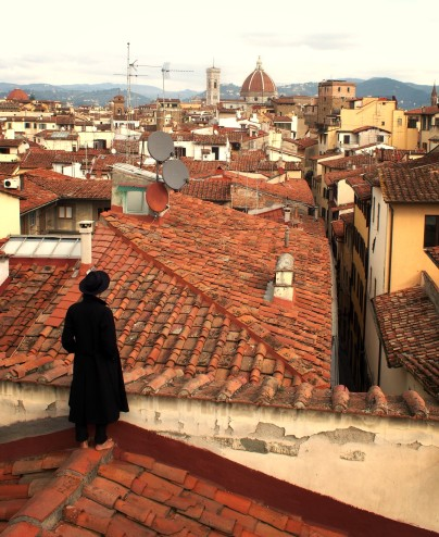 ...Walking barefoot over Florentine rooftops, 2018.
